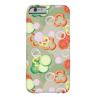 Texture With Slices Of Vegetables Barely There iPhone 6 Case