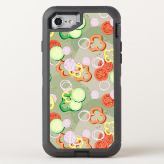 Texture With Slices Of Vegetables OtterBox Defender iPhone 7 Case