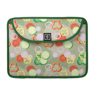 Texture With Slices Of Vegetables Sleeve For MacBook Pro