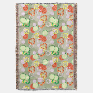 Texture With Slices Of Vegetables Throw Blanket
