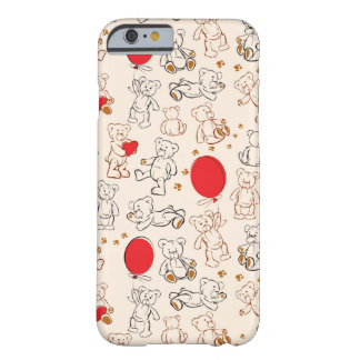 Texture With Teddy Bears Barely There iPhone 6 Case