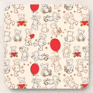 Texture With Teddy Bears Coaster