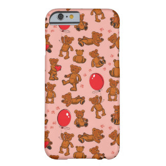 Texture With Teddy Bears, Hearts Barely There iPhone 6 Case