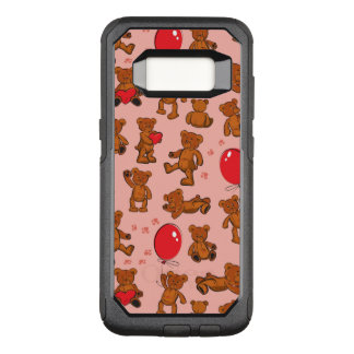 Texture With Teddy Bears, Hearts OtterBox Commuter Samsung Galaxy S8 Case