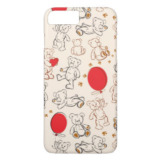 Texture With Teddy Bears iPhone 8 Plus/7 Plus Case