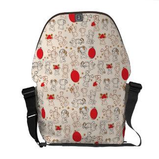 Texture With Teddy Bears Messenger Bag