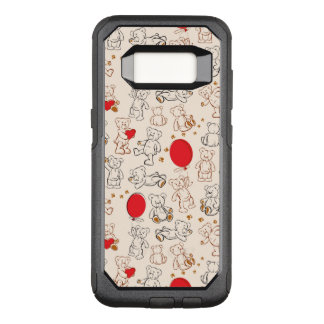 Texture With Teddy Bears OtterBox Commuter Samsung Galaxy S8 Case