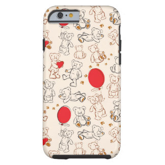 Texture With Teddy Bears Tough iPhone 6 Case