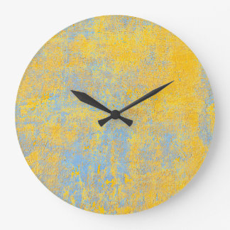 texture yellow large clock