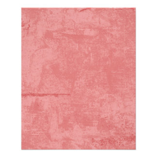 textured10 PINK CORAL GRUNGE DISTRESSED TEXTURE TE 11.5 Cm X 14 Cm Flyer