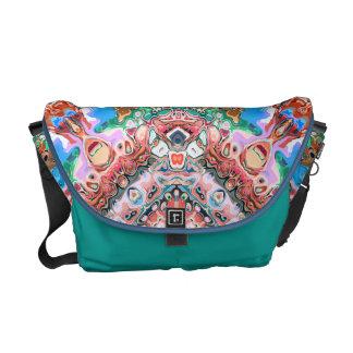 Textured Abstract Tile Pattern Messenger Bag