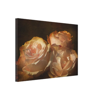 Textured Afternoon Shadows Rose Canvas Print