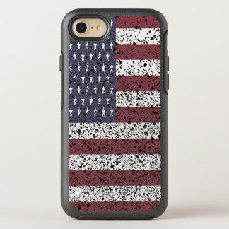 Textured American Flag 3 OtterBox Symmetry iPhone 8/7 Case