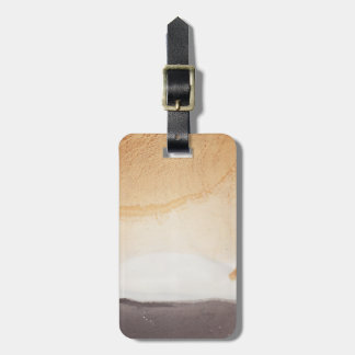 Textured background bag tag
