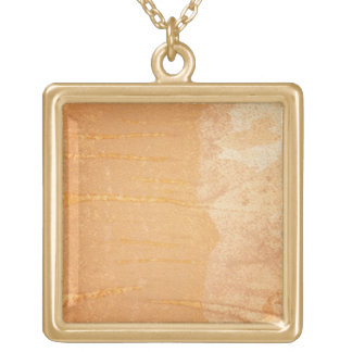 Textured background gold plated necklace