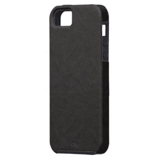 Textured Black Leather 2 iPhone 5 Covers