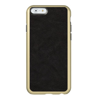 Textured Black Leather Pattern Incipio Feather® Shine iPhone 6 Case