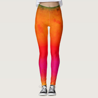 Textured Bright Colours on Leggings