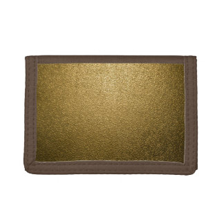 Textured Bronze Trifold Wallets
