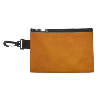 Textured Burnt Orange Accessory Bag