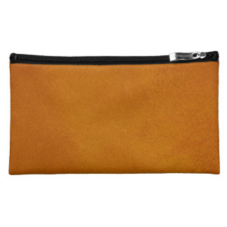 Textured Burnt Orange Cosmetic Bags