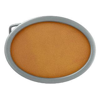 Textured Burnt Orange Oval Belt Buckles