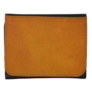Textured Burnt Orange Leather Wallets
