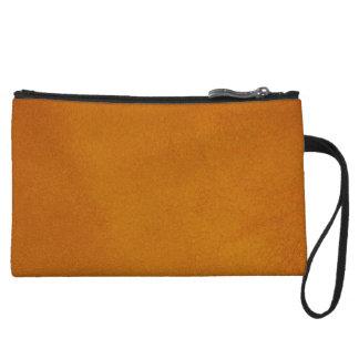 Textured Burnt Orange Wristlet Clutches