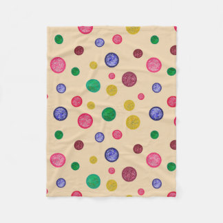 textured colourful dots blanket for girls.