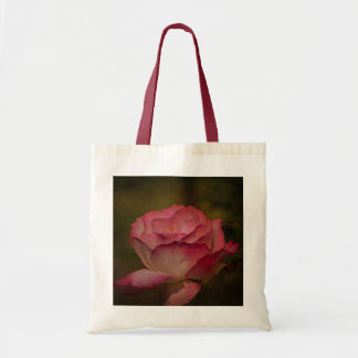 Textured Deep Pink Rose Tote Bag