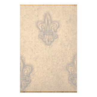 Textured French Fleur de Lis Custom Stationery