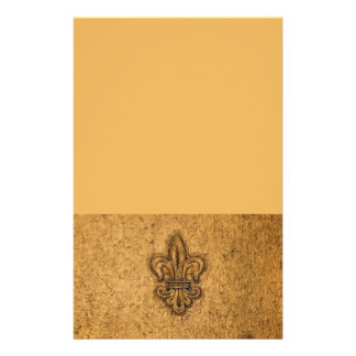Textured French Fleur de Lis Stationery Paper