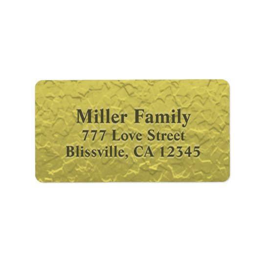 Textured Gold Foil Look Address Label