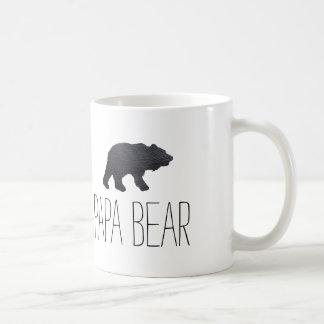 Textured Grey Bear Basic White Mug