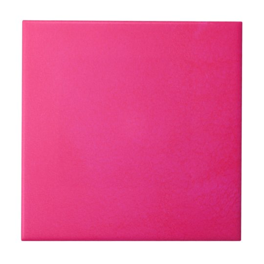 Textured Hot Pink Small Square Tile