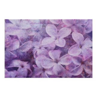 Textured Lilacs Poster