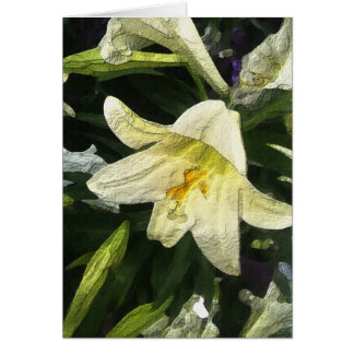 Textured Lilly Greeting Card