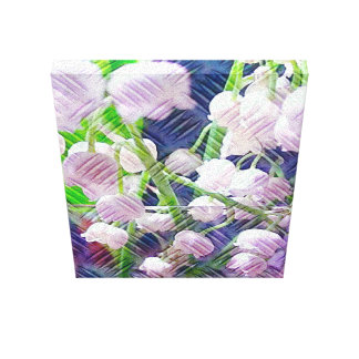 Textured Lily of the Valley In Pink Canvas Print