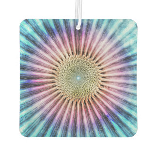 Textured Mandala Tie Dye Car Air Freshener