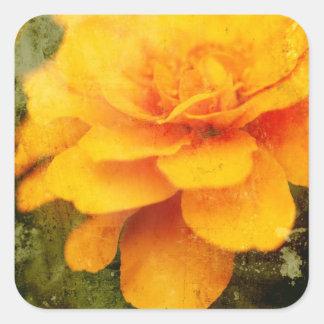 Textured Marigold Square Sticker