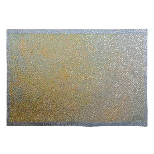 Textured Metal Look Silver and Gold Sleek Chic Place Mats