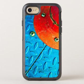 textured metallic steel urban grunge design OtterBox symmetry iPhone 8/7 case
