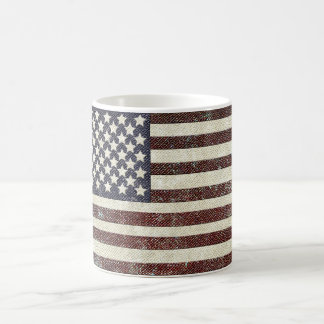 Textured old style American flag Coffee Mug