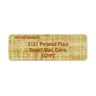 TEXTURED PAPYRUS BACKGROUND Return Address Labels