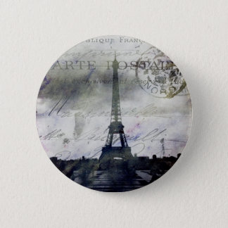 Textured Paris in Lavender 6 Cm Round Badge