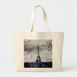 Textured Paris in Lavender Large Tote Bag