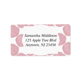 Textured Pink Dots Label