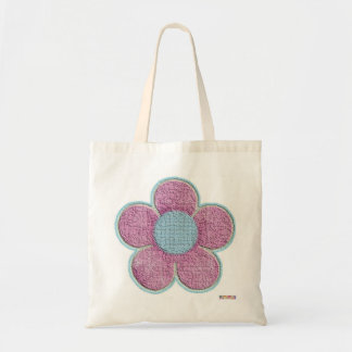Textured Pink Flower Bag