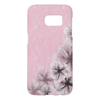 Textured Pink with Flowers