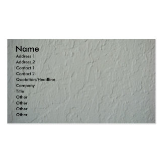 Textured Plaster Wall Business Card